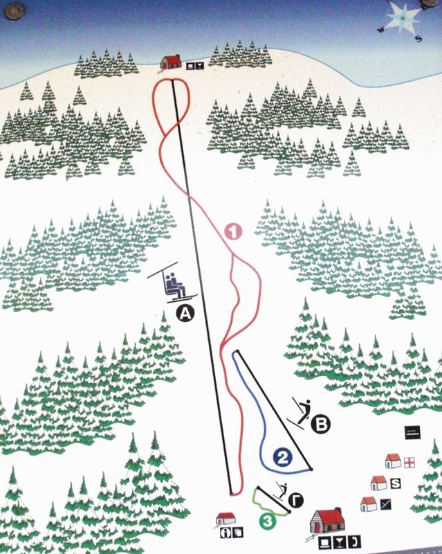 Ski Pertouli map